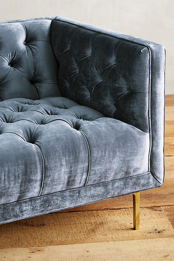 Slide View: 3: Slub Velvet Mina Chair