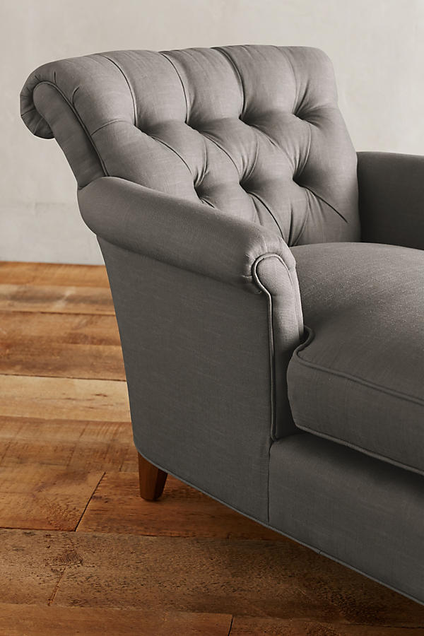 Slide View: 3: Linen Gwinnette Chaise