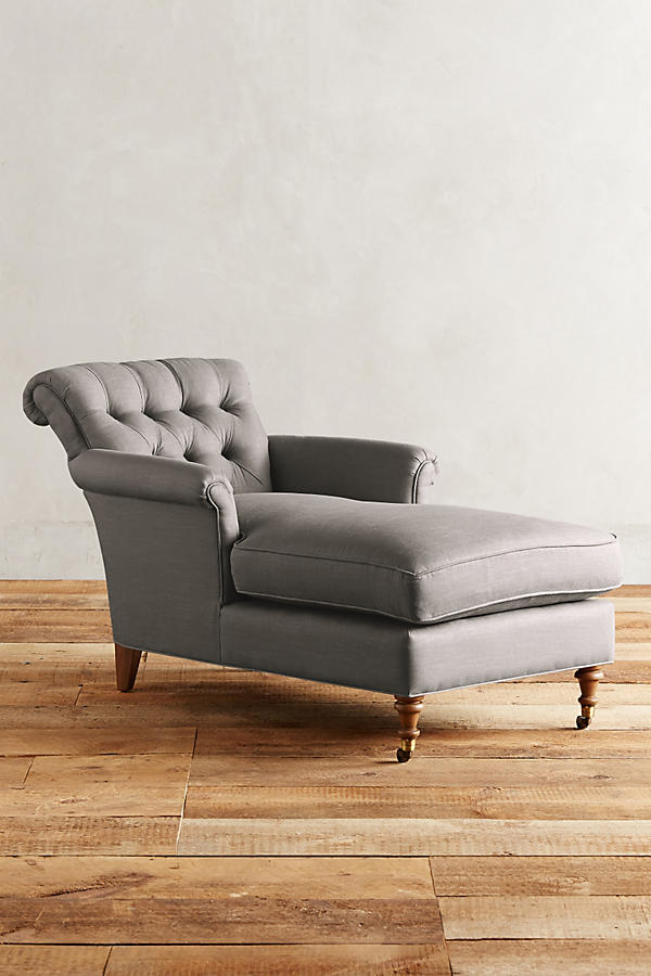 Slide View: 1: Linen Gwinnette Chaise
