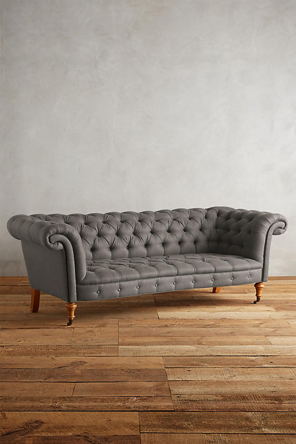 Slide View: 1: Linen Olivette Sofa