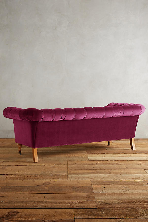 Slide View: 2: Velvet Olivette Sofa