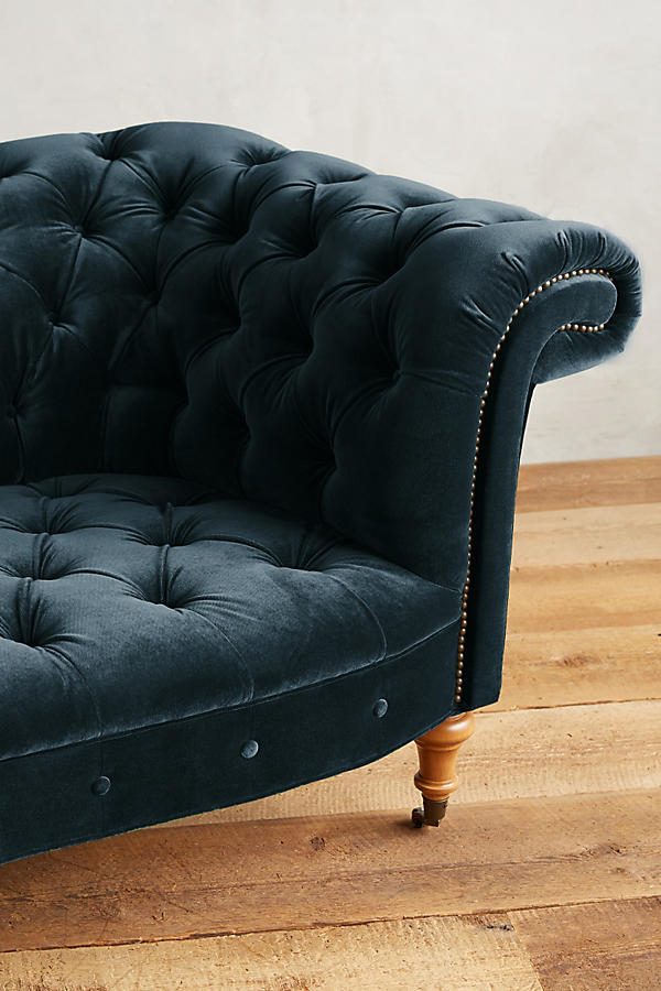 Slide View: 3: Velvet Olivette Sofa