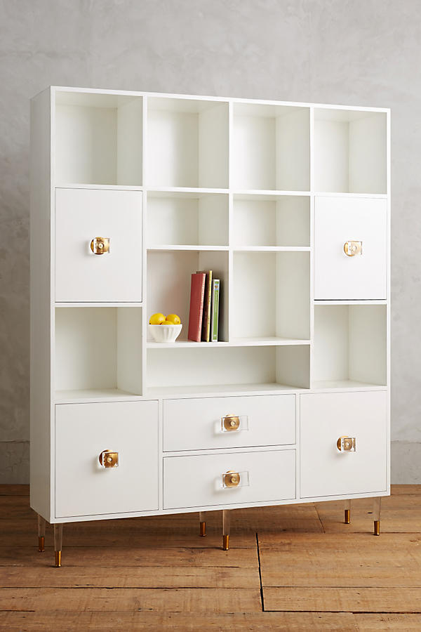 Slide View: 1: Lacquered Regency Storage Cabinet
