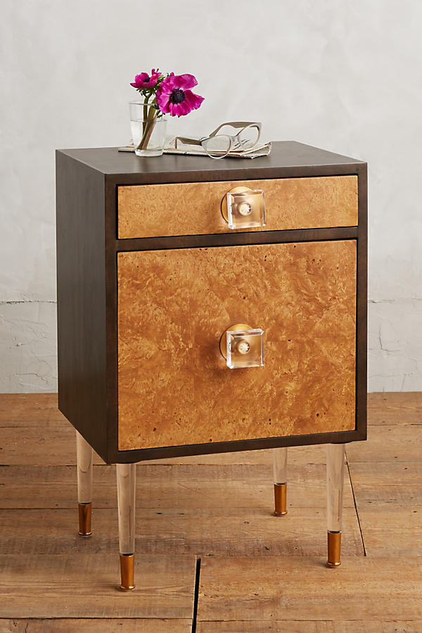 Burlwood Regency Nightstand