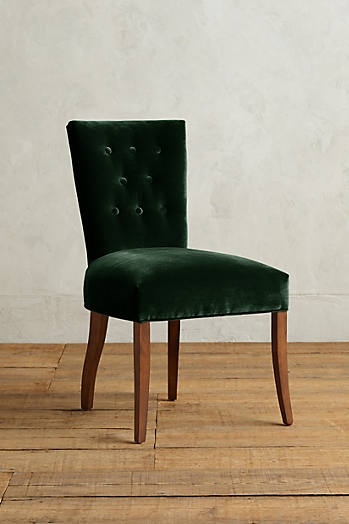Slide View: 1: Velvet Abner Dining Chair
