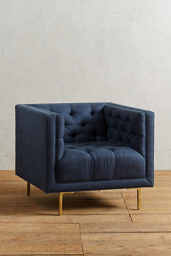 Slide View: 1: Linen Mina Chair