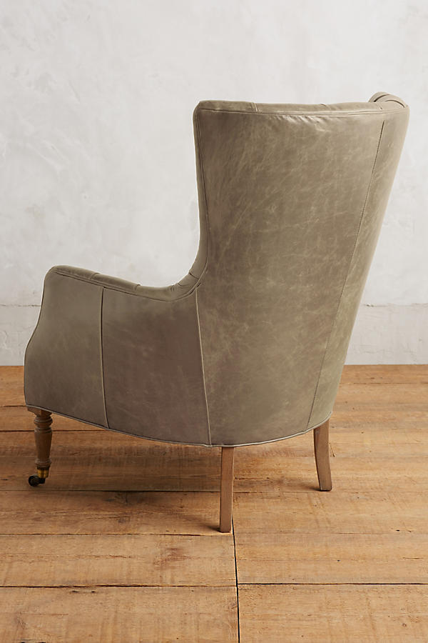 Slide View: 2: Leather Tufted Julienne Chair