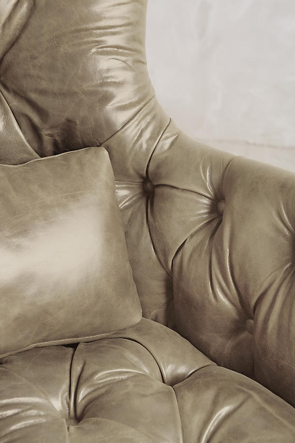 Slide View: 3: Leather Tufted Julienne Chair