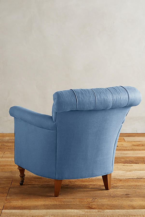 Slide View: 2: Linen Gwinnette Chair