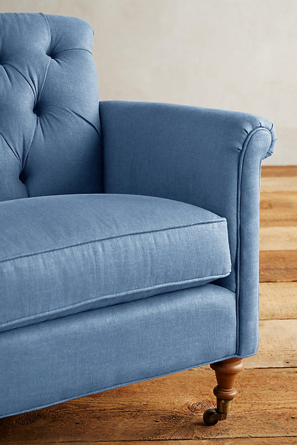 Slide View: 3: Linen Gwinnette Chair