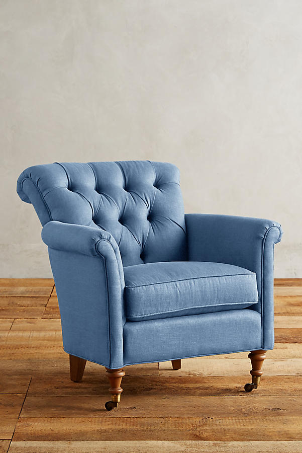 Slide View: 1: Linen Gwinnette Chair