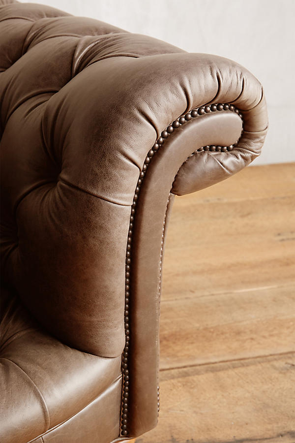 Slide View: 3: Leather Olivette Sofa