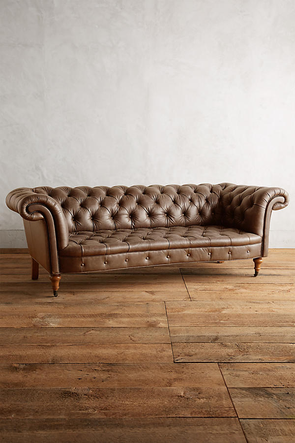 Slide View: 1: Leather Olivette Sofa