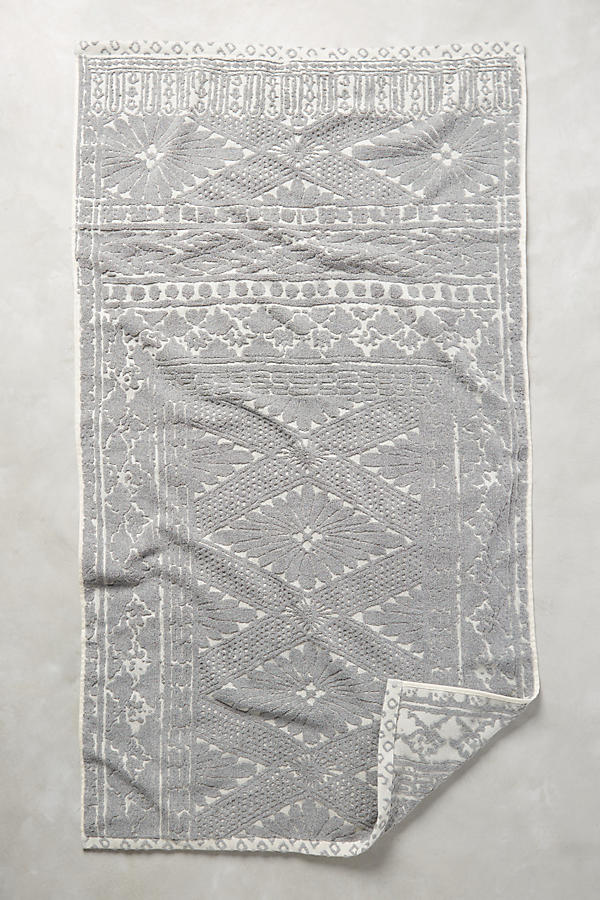Slide View: 1: Stone Carvings Towel Collection