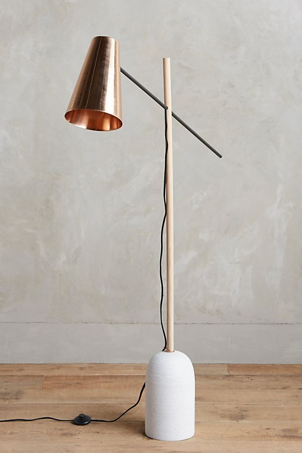 accent modern shade image lamp contemporary the switched with oiled people for floor walnut copper float design