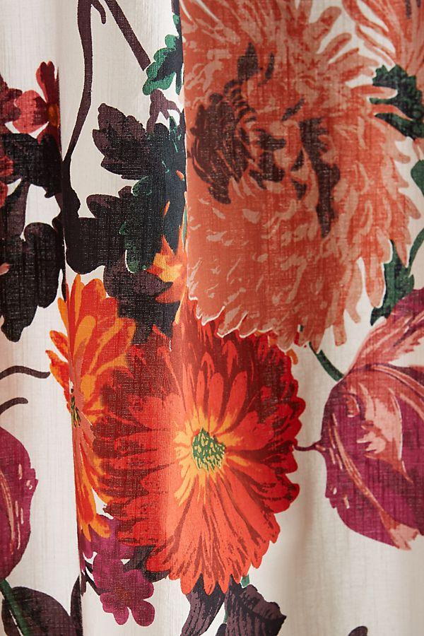 Orange Floral Shower Curtain. Slide View  2 Agneta Shower Curtain Anthropologie