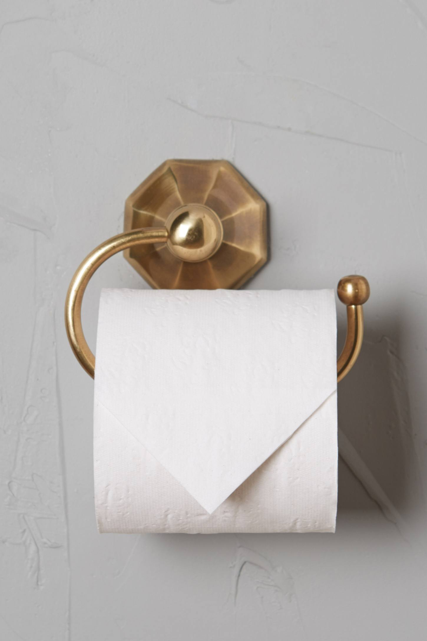 Slide View: 1: Brass Circlet Toilet Paper Holder