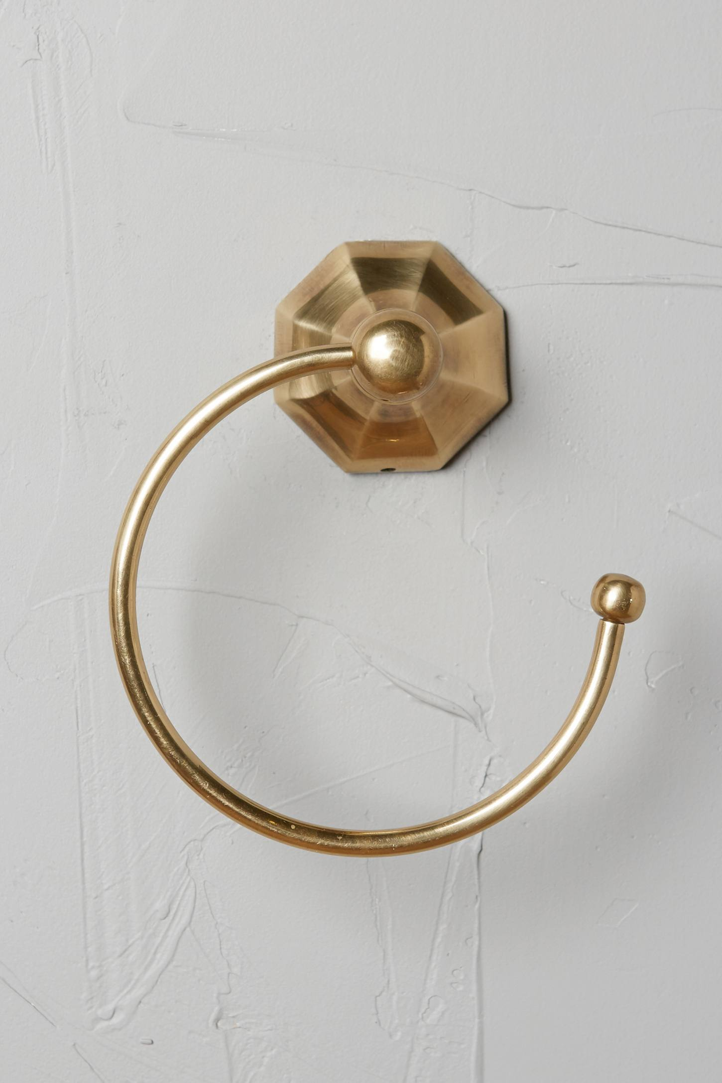 Slide View: 7: Brass Circlet Towel Bar