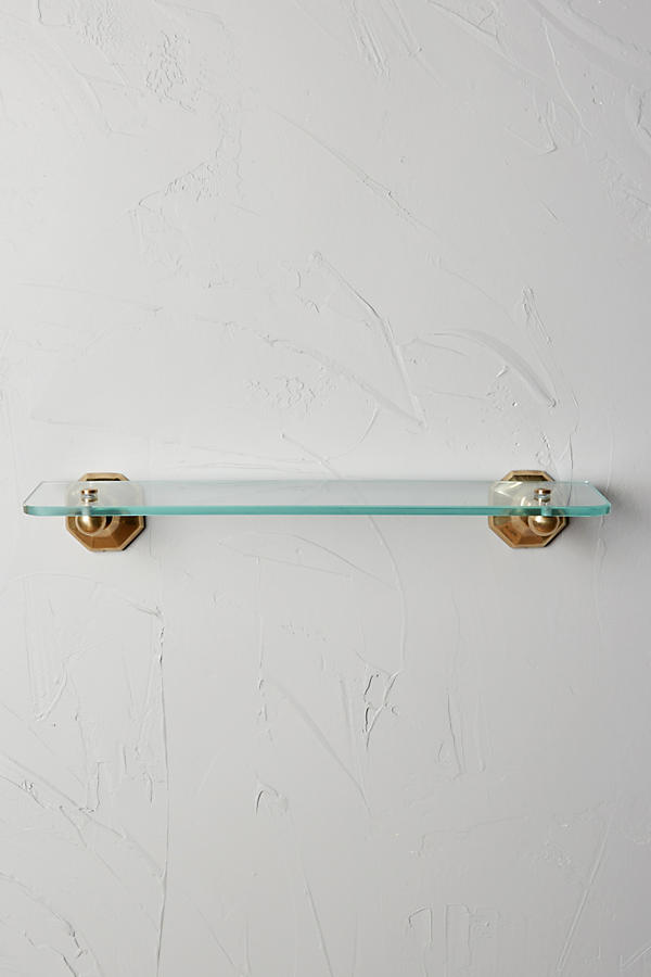Slide View: 3: Brass Circlet Glass Shelf