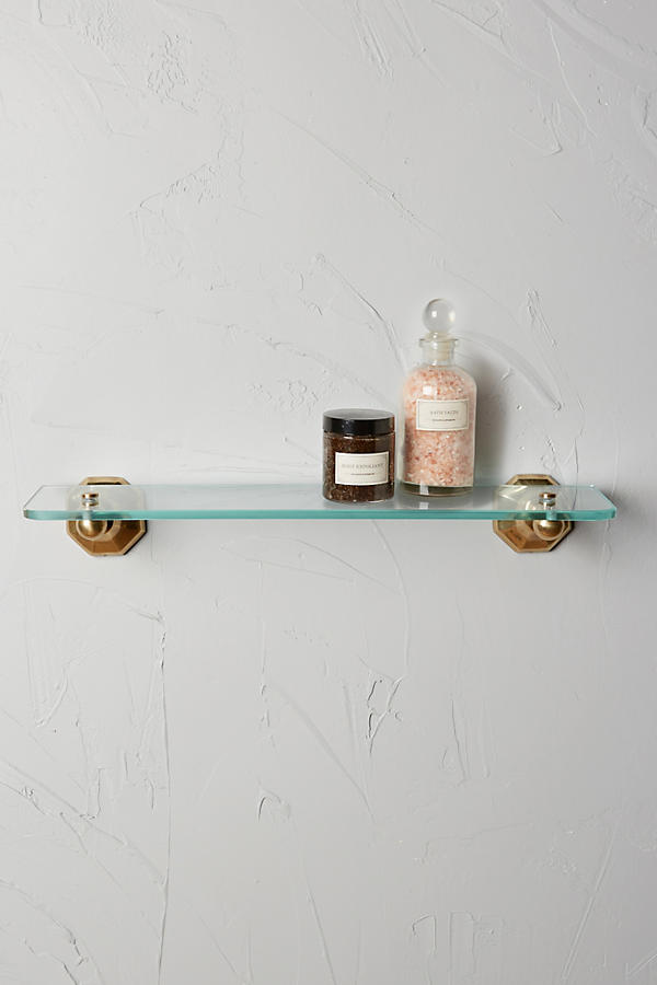 Slide View: 1: Brass Circlet Glass Shelf