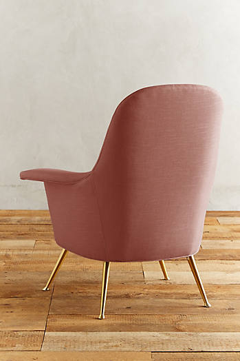 Slide View: 2: Linen Kimball Chair