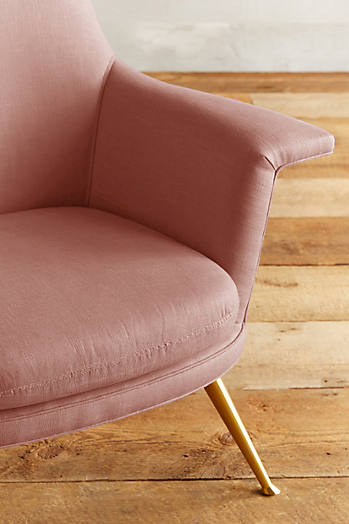 Slide View: 3: Linen Kimball Chair