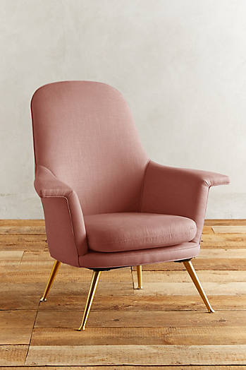 Slide View: 1: Linen Kimball Chair