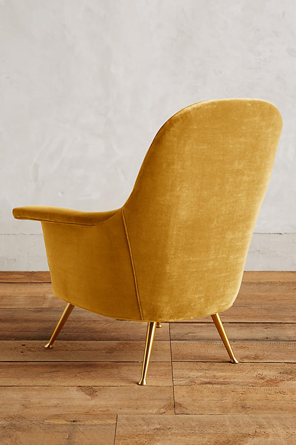 Slide View: 2: Velvet Kimball Chair