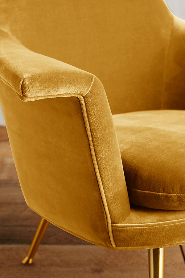 Slide View: 3: Velvet Kimball Chair