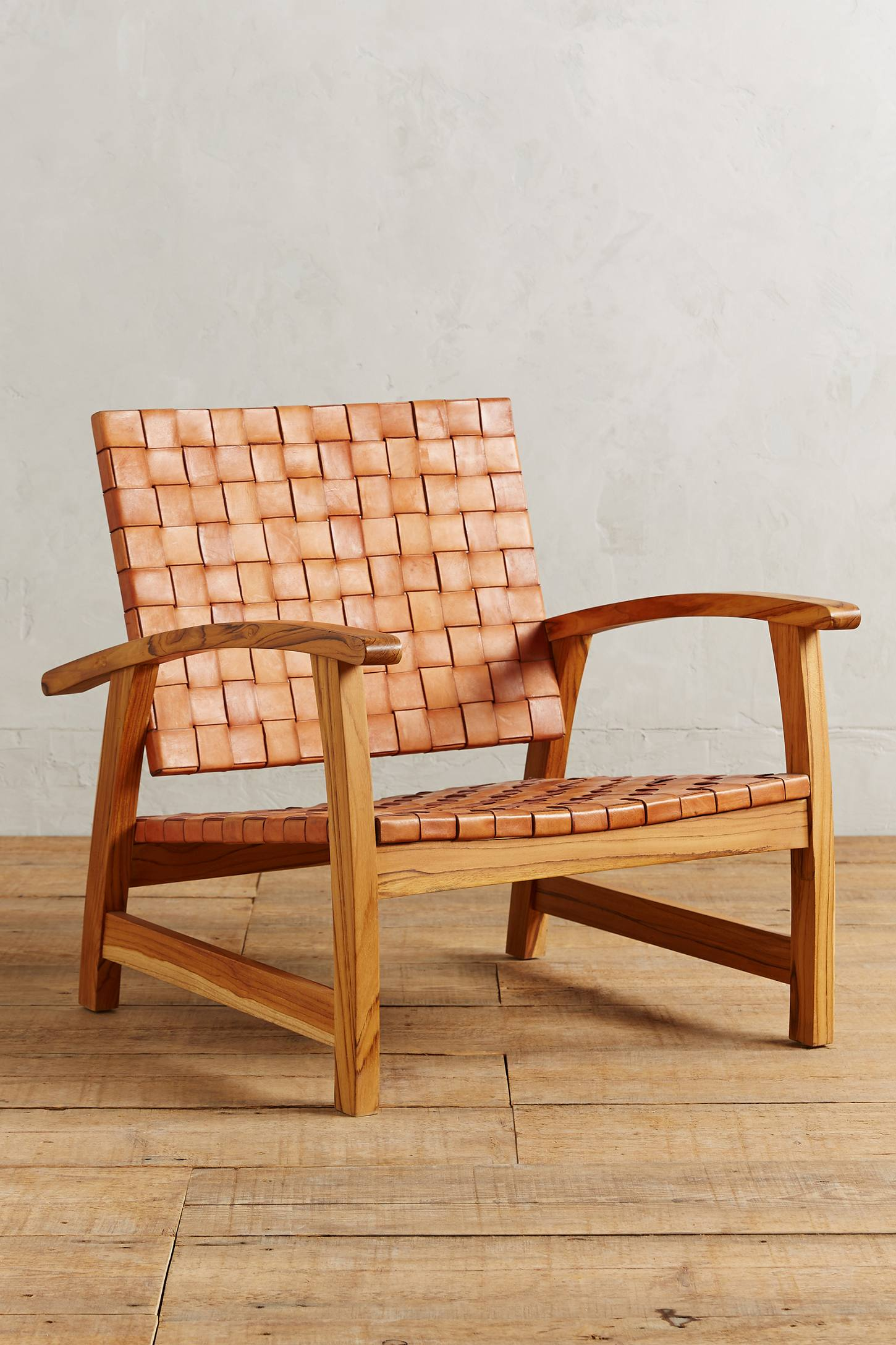 Leather Loom Armchair Anthropologie