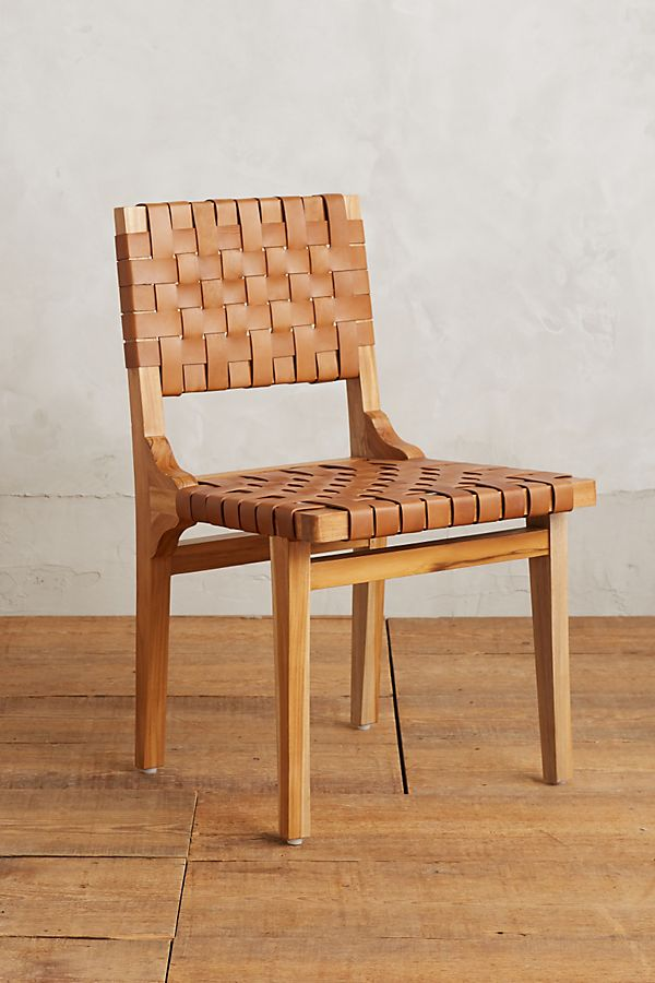 Slide View 1 Leather Loom Dining Chair