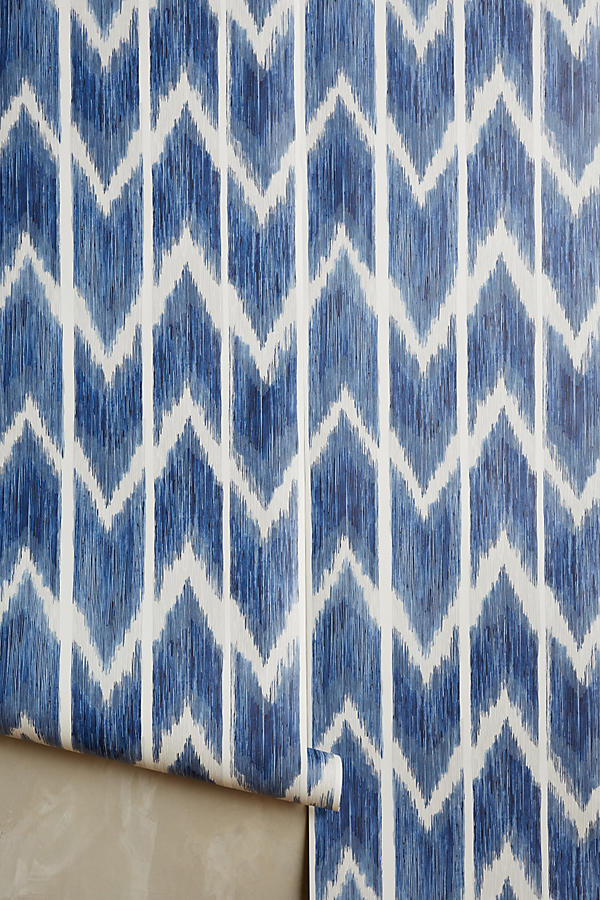 Textured Ikat Wallpaper