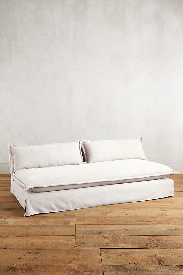 Slide View: 1: Basketweave Linen Tassa Sofa