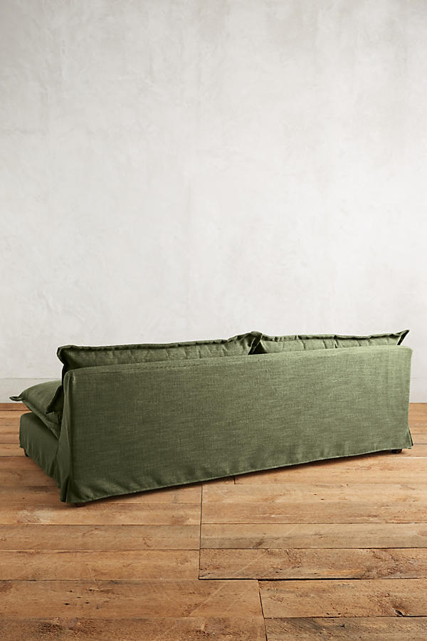 Slide View: 2: Basketweave Linen Tassa Sofa