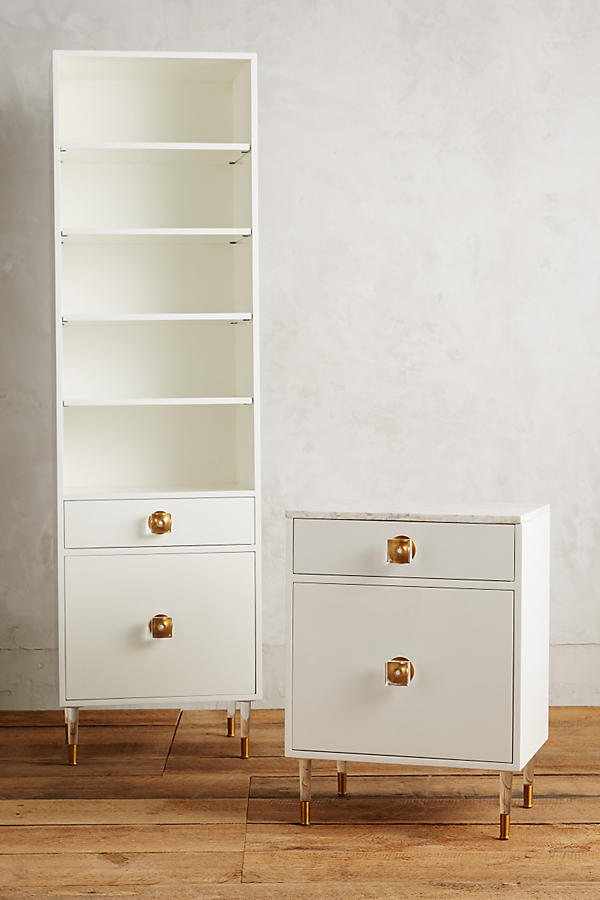 Slide View: 2: Lacquered Regency Bath Cabinet, Large
