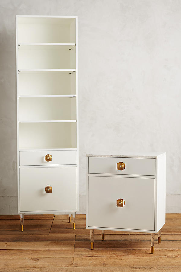 Slide View: 4: Lacquered Regency Bath Cabinet, Large