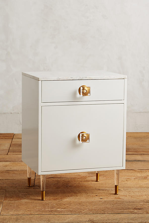 Slide View: 1: Lacquered Regency Bath Cabinet, Small