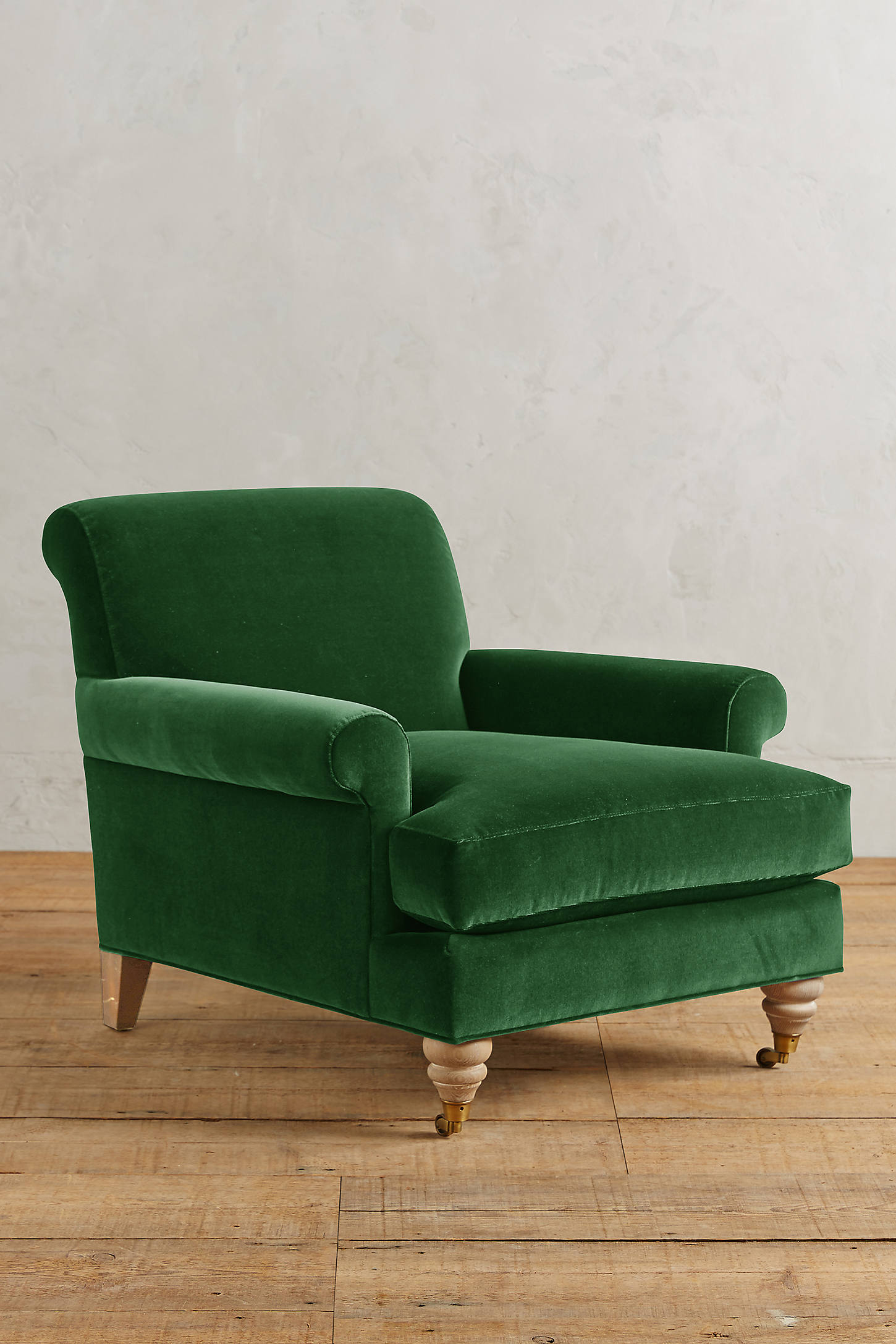 Velvet Willoughby Chair, Wilcox