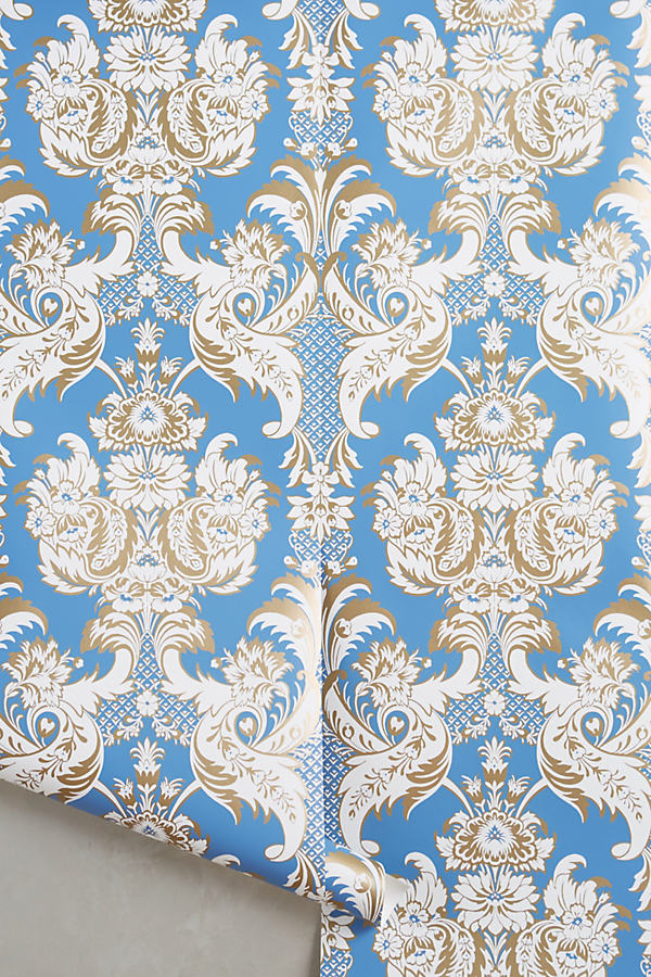 Felicitous Emblem Wallpaper - Blue