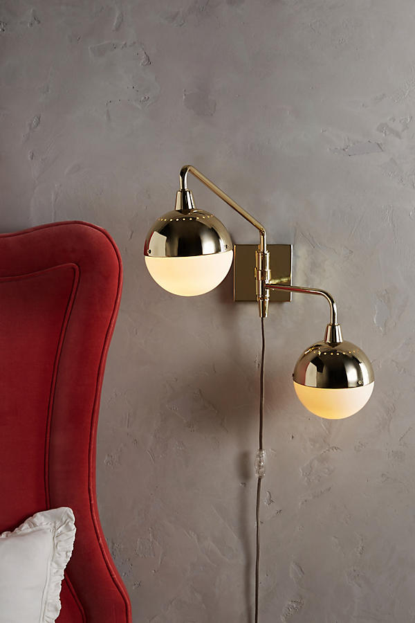 Slide View: 2: Anchored Orb Two-Arm Sconce