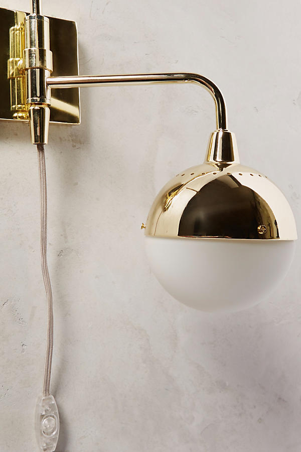 Slide View: 3: Anchored Orb Two-Arm Sconce