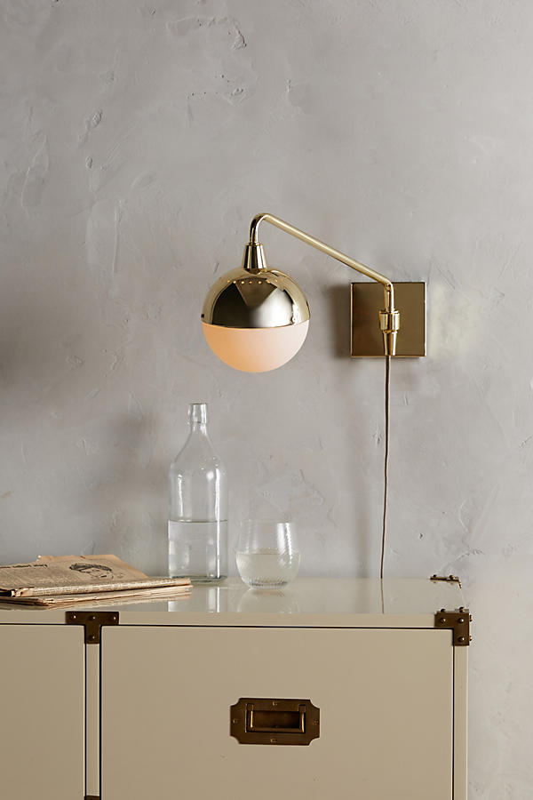 Slide View: 5: Anchored Orb One-Arm Sconce