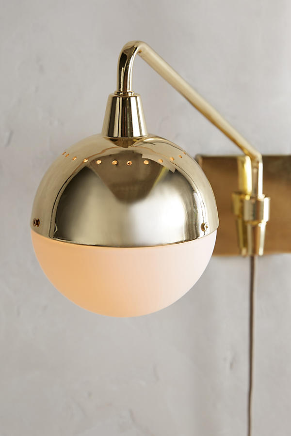 Slide View: 6: Anchored Orb One-Arm Sconce
