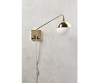 Slide View: 1: Anchored Orb One-Arm Sconce