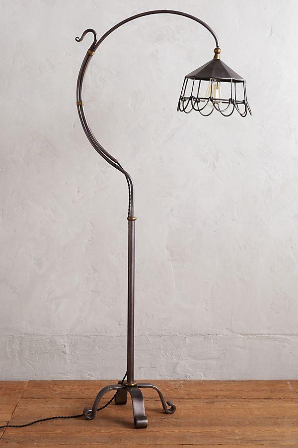 Lampe à pied métal à fleur | Anthropologie
