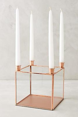 Slide View: 1: Copper Quadrille Candelabra