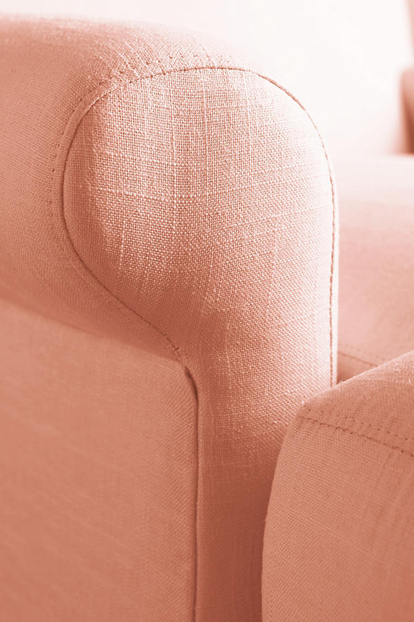 Slide View: 3: Linen Willoughby Chair, Wilcox
