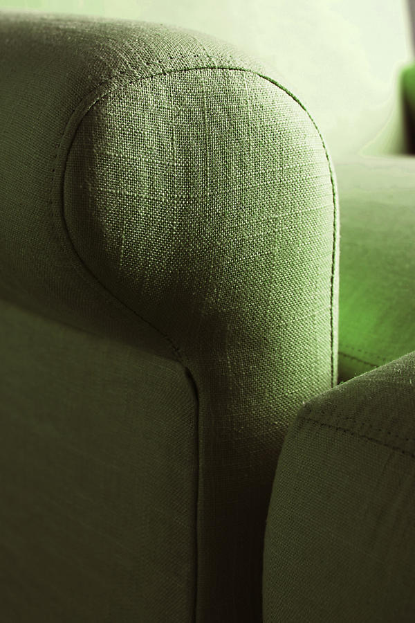 Slide View: 3: Linen Willoughby Chair, Hickory