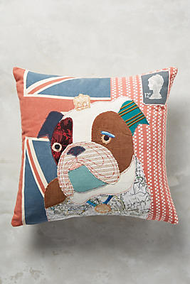 Slide View: 1: Patchwork Pup Pillow