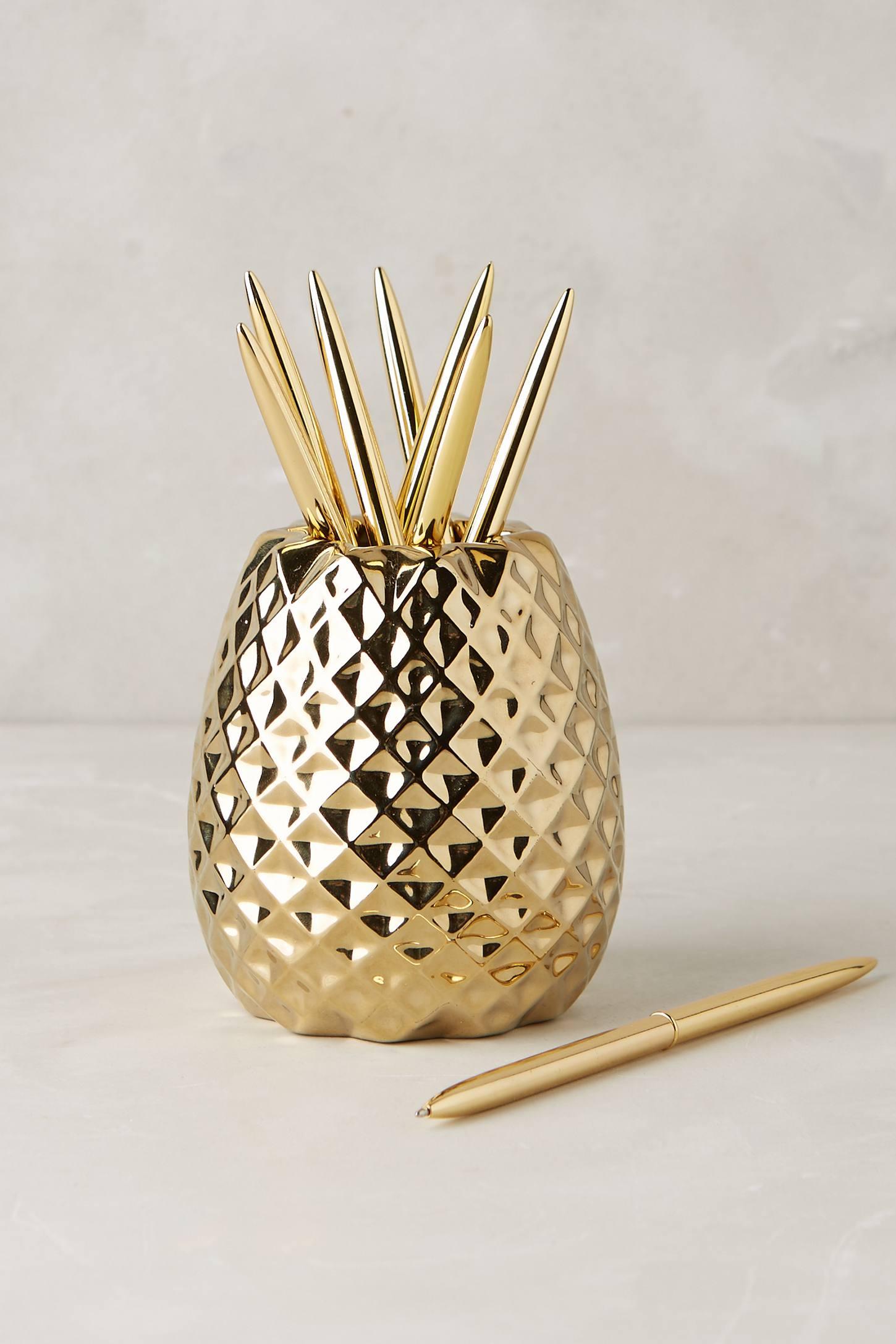 Pineapple Pencil Holder Anthropologie